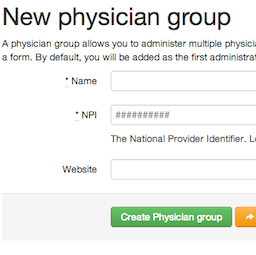 Create physician groups