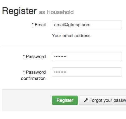 Register household