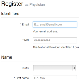 Register physician